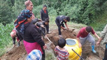2017 Nieuwe waterleiding voor 50 gezinnen
